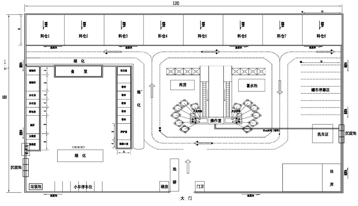 拌合站规划图